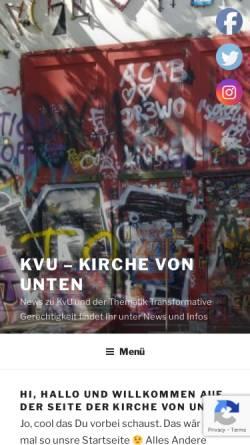 Vorschau der mobilen Webseite www.kvu-berlin.de, KvU, Berlin