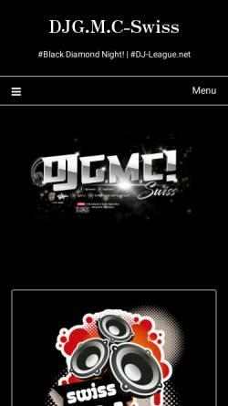 Vorschau der mobilen Webseite djgmc.ch, DJ G.M.C