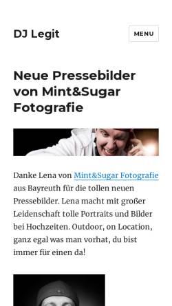 Vorschau der mobilen Webseite www.legit.de, DJ Legit