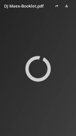Vorschau der mobilen Webseite www.djmaex.de, DJ Mäx