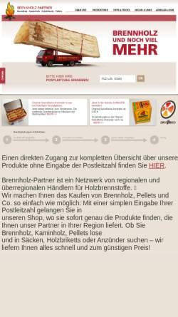 Vorschau der mobilen Webseite www.brennholz-partner.de, B-P Vertriebsgesellschaft mbH