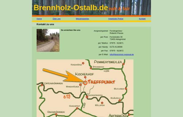 Vorschau von www.brennholz-regional.de, Forstingenieur Roberto Preuß