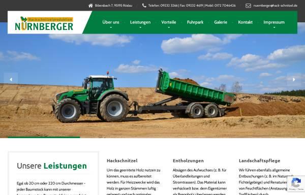 Vorschau von www.hack-schnitzel.de, Hackschnitzelproduktion Nürnberger, Inh. Horst Nürnberger