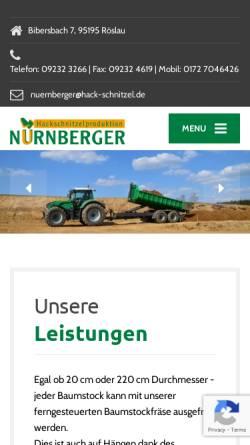 Vorschau der mobilen Webseite www.hack-schnitzel.de, Hackschnitzelproduktion Nürnberger, Inh. Horst Nürnberger