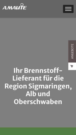 Vorschau der mobilen Webseite www.holz-gbr.de, Holz GbR Sigmaringendorf