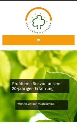 Vorschau der mobilen Webseite www.holzpellet.com, Holz-Energie-Zentrum Olsberg GmbH