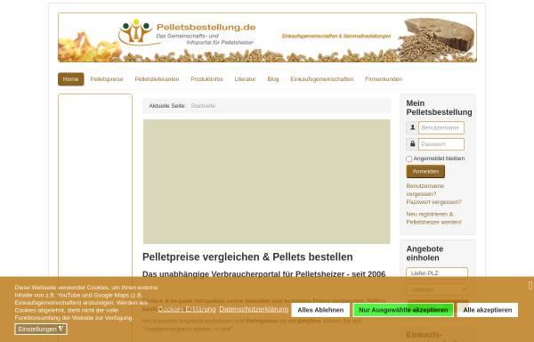 Vorschau von www.pelletsbestellung.de, Pelletsbestellung.de