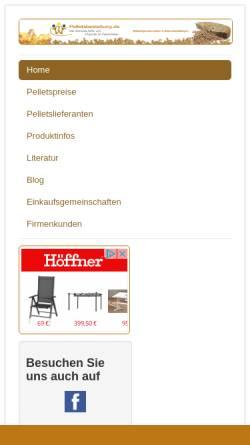 Vorschau der mobilen Webseite www.pelletsbestellung.de, Pelletsbestellung.de