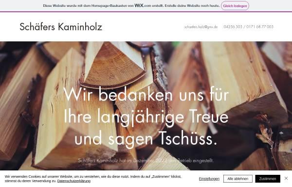 Vorschau von www.kaminholz.net, Schäfers Kaminholz