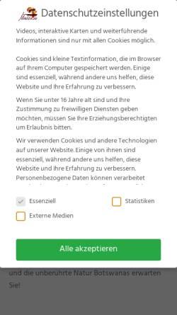 Vorschau der mobilen Webseite www.madiba.de, Madiba.de - African Inspiration