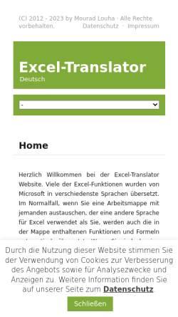 Vorschau der mobilen Webseite www.software.maninweb.de, Excel Software