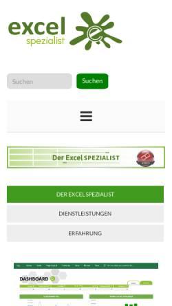 Vorschau der mobilen Webseite www.excel-spezialist.ch, Excel-Spezialist