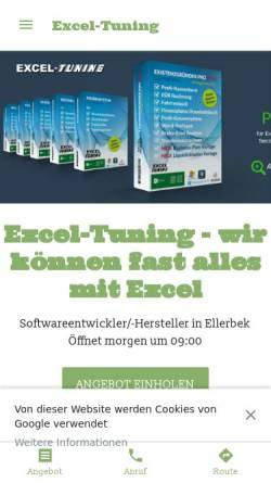 Vorschau der mobilen Webseite www.excel-tuning.de, Excel-Tuning