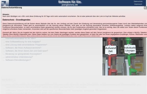 Vorschau von www.joerglorenz.de, Jörg Lorenz IT Dienstleistungen und Programmierung