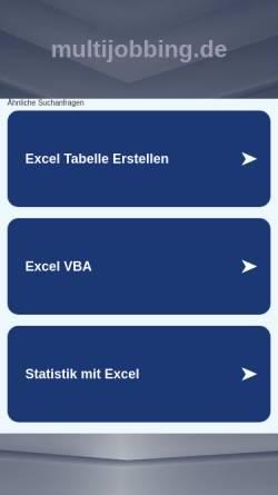 Vorschau der mobilen Webseite multijobbing.de, Multijob(b)ing