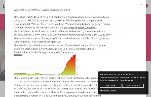Vorschau von www.lebensraeume.at, Lebensräume - Gemeinnützige Wohnungsgenossenschaft