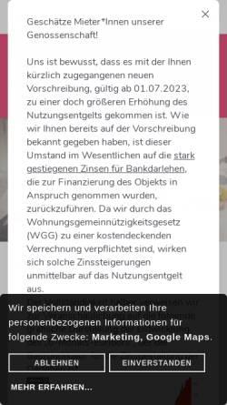 Vorschau der mobilen Webseite www.lebensraeume.at, Lebensräume - Gemeinnützige Wohnungsgenossenschaft