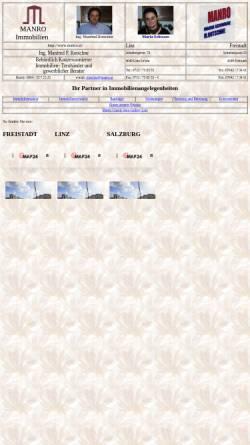 Vorschau der mobilen Webseite www.manro.at, Manro Immobilien