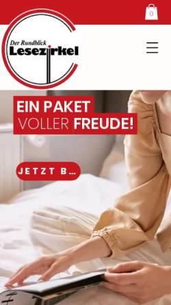 Vorschau der mobilen Webseite www.lesezirkel.co.at, Lesezirkel am Kamin