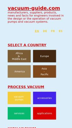 Vorschau der mobilen Webseite www.vacuum-guide.com, Vacuum Guide