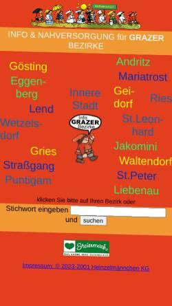 Vorschau der mobilen Webseite www.heinzelmaennchen.at, Heinzelmaennchen