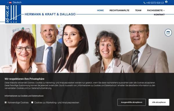 Vorschau von www.ad-voc.at, Rechtsanwälte Hermann & Kraft & Dallago, Kufstein