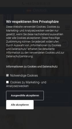 Vorschau der mobilen Webseite www.ad-voc.at, Rechtsanwälte Hermann & Kraft & Dallago, Kufstein