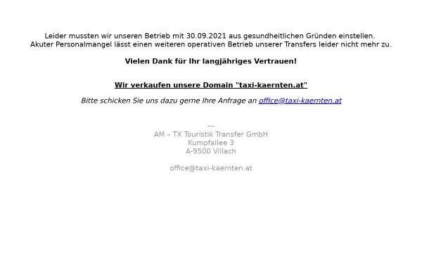 Vorschau von www.taxi-kaernten.at, Taxi Hoffmann