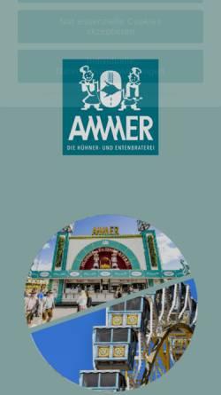 Vorschau der mobilen Webseite www.ammer-wiesn.de, Ammer Festzelt