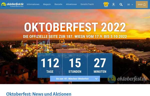 Vorschau von www.oktoberfest.de, Oktoberfest.de