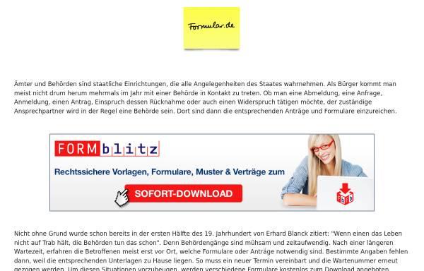 Vorschau von www.formular.de, Formulare