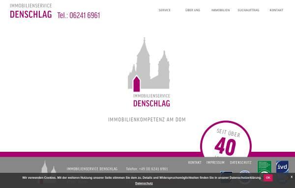 Vorschau von www.denschlag.de, Immobilien Service Denschlag