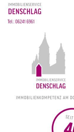 Vorschau der mobilen Webseite www.denschlag.de, Immobilien Service Denschlag