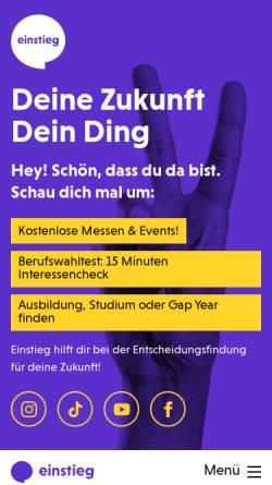Vorschau der mobilen Webseite www.einstieg.com, Einstieg