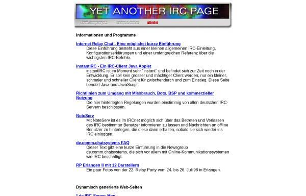 Vorschau von irc.fu-berlin.de, Yet Another IRC Page