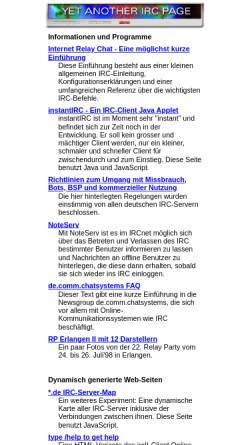 Vorschau der mobilen Webseite irc.fu-berlin.de, Yet Another IRC Page