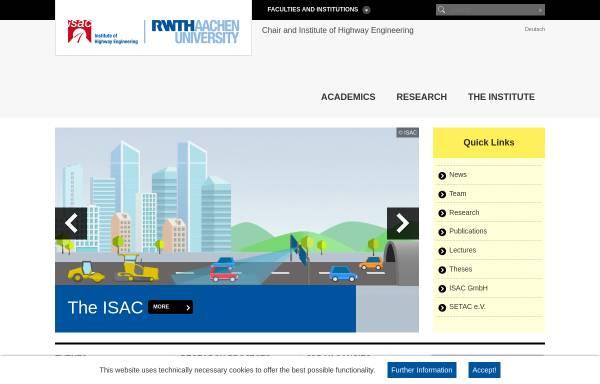 Vorschau von www.isac.rwth-aachen.de, Institut für Straßenwesen Aachen (isac)