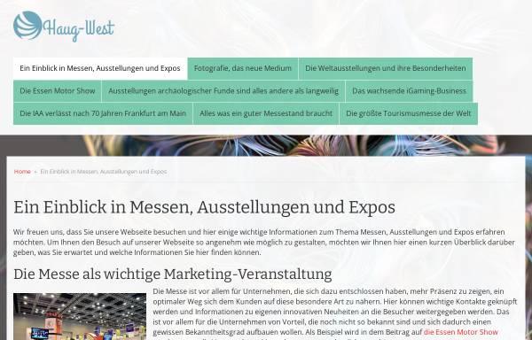 Vorschau von www.haug-west.de, Haug-West Messe und Ausstellungsgesellschaft mbH