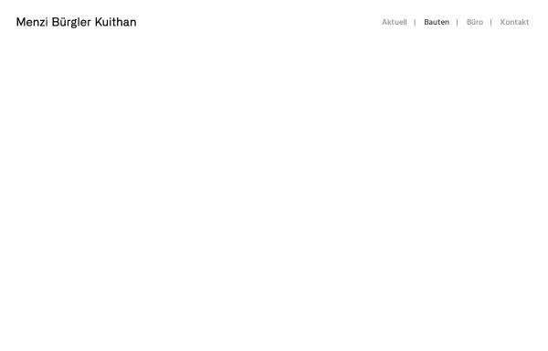 Vorschau von www.menzibuergler.ch, Menzi Bürgler Architekten AG