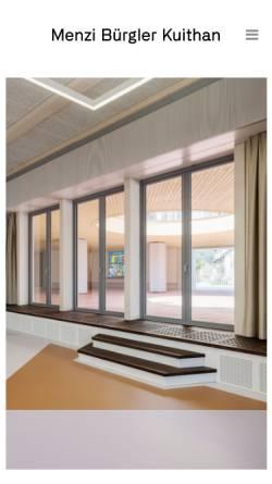 Vorschau der mobilen Webseite www.menzibuergler.ch, Menzi Bürgler Architekten AG