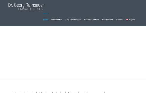 Vorschau von www.detektei-ramsauer.com, Dr. Georg Ramsauer - Privatdetektiv