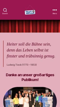 Vorschau der mobilen Webseite www.theaterinauersthal.at, Theatergruppe Auersthal