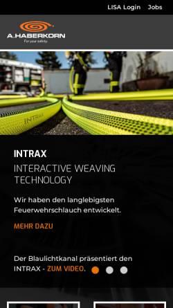 Vorschau der mobilen Webseite www.a-haberkorn.at, A. Haberkorn & Co. GmbH, Großhandel