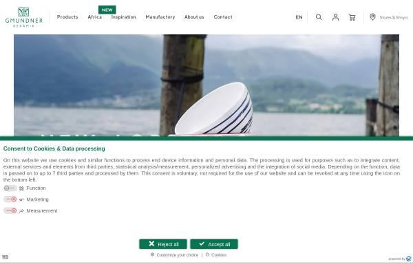 Vorschau von www.gmundner-keramik.at, Gmundner Keramik Manufaktur GmbH