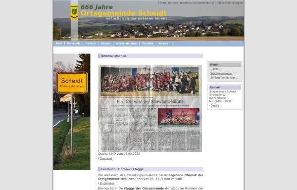 Vorschau von www.ortsgemeinde-scheidt.de, Ortsgemeinde Scheidt