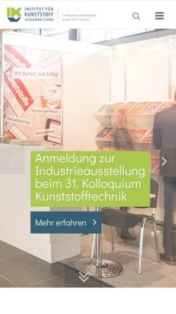 Vorschau der mobilen Webseite www.ikv-aachen.de, Institut für Kunststoffverarbeitung