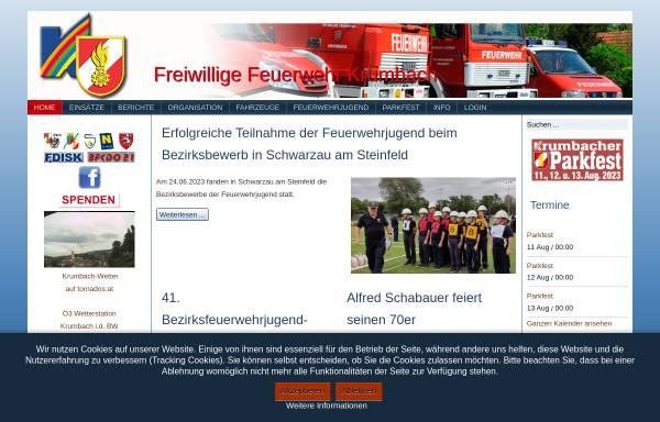 Vorschau von www.ff-krumbach.at, Freiwillige Feuerwehr