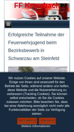 Vorschau der mobilen Webseite www.ff-krumbach.at, Freiwillige Feuerwehr