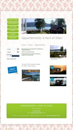 Vorschau der mobilen Webseite www.strutz-appartements.at, Appartements A Part of Eden