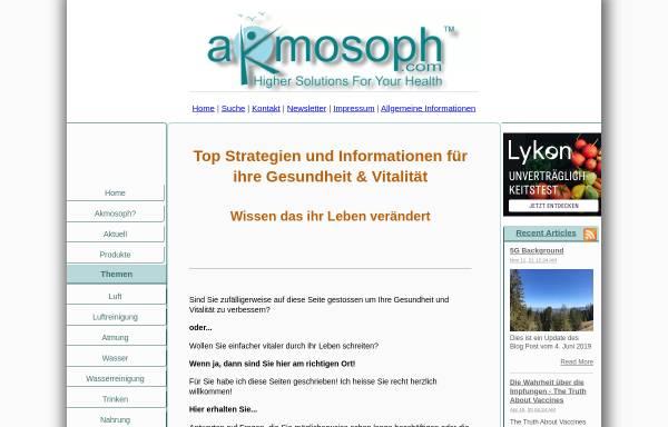 Vorschau von www.higher-solutions-for-your-health.com, Akmosoph.com